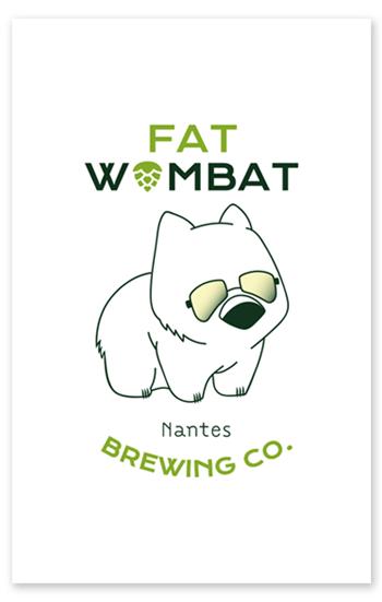 Carte de visite Fat Wombat recto
