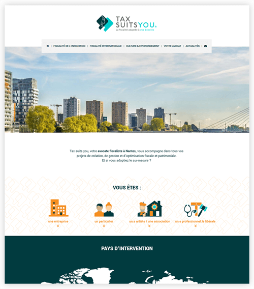 Webdesign du site Tax Suits You