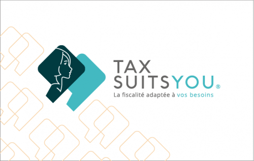 Carte de visite Tax Suits You recto