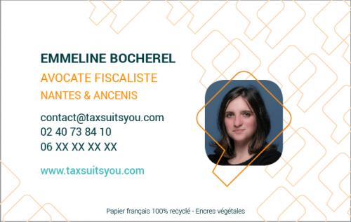Carte de visite Tax Suits You verso